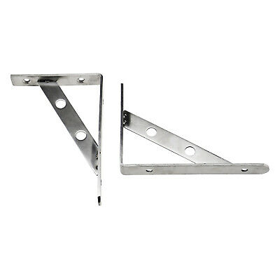 """Pair of 6"""" Wall Mounted Brackets  Metal Right Angle Shelf Support Bracket Rack"""