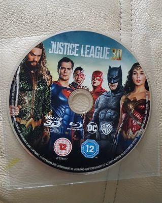 Justice League Blu-Ray 3D Disc Only Never Watched Official Uk Release