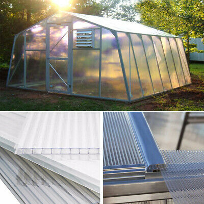 4mm Polycarbonate Sheet Glazing Greenhouse Cold Frame Shed Replacement Panels UK