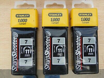 Stanley 1-CT108T 12mm Type-7 Cable Staples 1000 Pieces