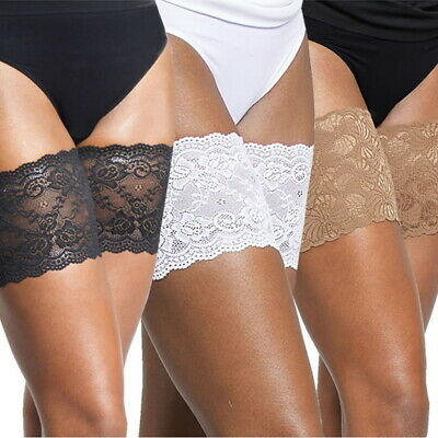 Elastic Lace Thigh Bands Anti Chafing Non Slip Leg Sock Prevent Abrasion 1 Pair