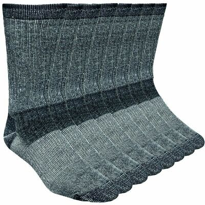 4-Pack Merino Wool Hiking Socks Made In USA 'Working Persons' Black Shoe 9-13