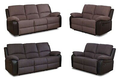 Recliner Sofas Fabric & Faux Leather - 3's & 2 seaters available + Chairs
