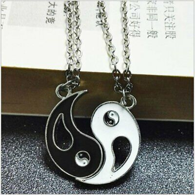 Tai Chi Ba Gu Yin Yang Pendant Couple Necklace 0941 BD