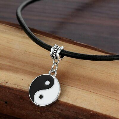 Vintage Style Fashion Yin and Yang Pendant Tai Chi Necklace Unisex Decoration BD