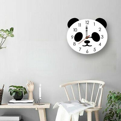 Creative Cartoon Wall Clock Acrylic Clock Panda Cute Simple Home Wall Clock BD