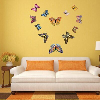 Luminous 3D Wall Stickers Hollow Out Magnetic Butterflies Room Wall Decal BD