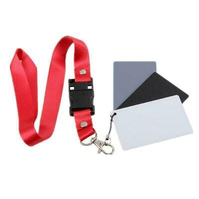 Digital Color Balance Gray Card Black Grey White For Photography Studio Sel R0H9