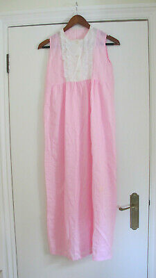A Vintage Pink & White Seer-sucker Nightgown for a Child (1960's)