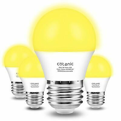 GE Lighting Outdoor LED Yellow Bug Light Bulb Yellow 400 Lumens 7W #92140 New