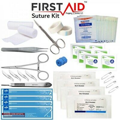 Surgical Suture Kit | First Aid Wound Care Medical Supplies EMT | Free Shipping