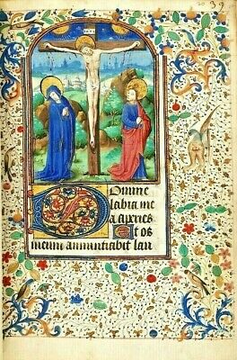 Book of Hours, use of Troyes Illuminated Manuscript High Quality  RE-PRODUCTION