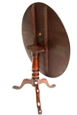 Antique Georgian Mahogany Tilt Top Pedestal Table - FREE Shipping [5414]