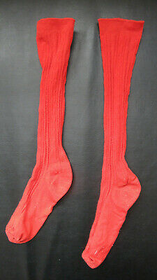 A Vintage, Pair of Red Socks for a Child (1960's)