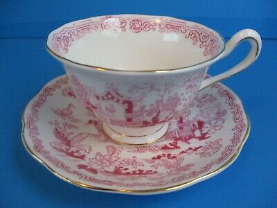 royal albert cup and saucer pink mikado design excellent condition COMBINE SHIPP