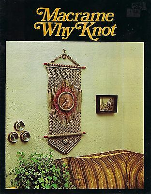 Vintage Macrame Why Knot Craft Book Wall Hanging Art and Plant Hanger Patterns