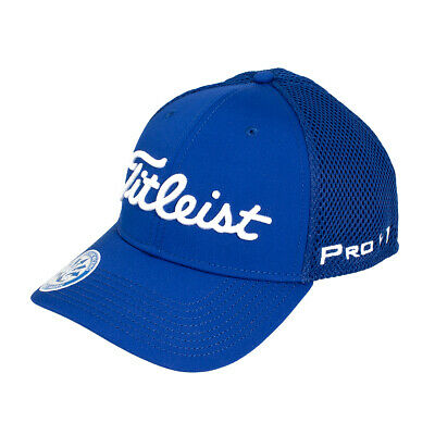 Titleist Golf Sports Mesh Legacy Fitted Cap Hat Headwear Royal Blue Choose Size