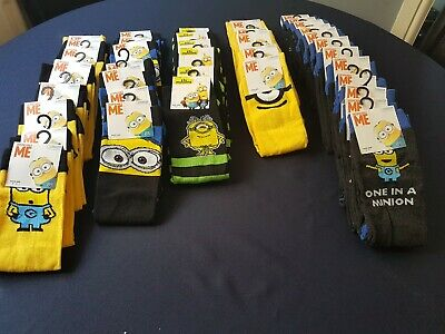 Mens minion socks size 6 - 11 BNWT mixed pack of 5 ideal stocking filler