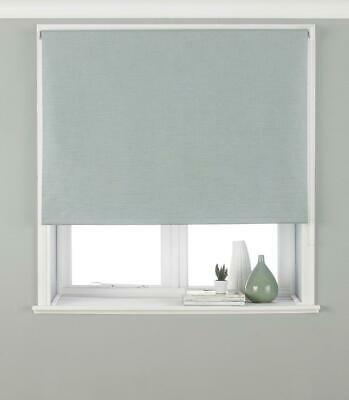 Riva Paoletti Eclipse Blackout Roller Blind - Duck Egg Blue - Ready Made - - -