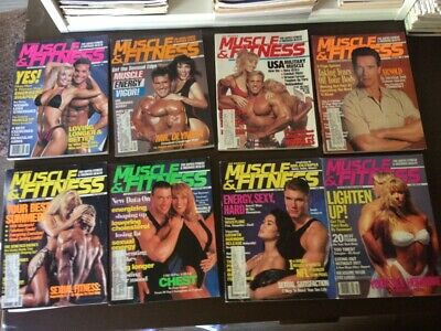 Muscle & Fitness Magazine Lot - 8 issues from 1991