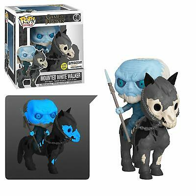 Funko POP! Game of Thrones MOUNTED WHITE WALKER Amazon Exclusive GLOW IN HAND