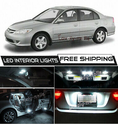 8x Pure Deep Blue LED Lights Interior Package Inside Kit For 97-01 Honda CR-V