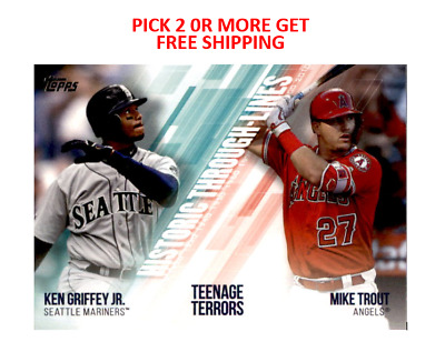 2019 Topps 2 Historic Through Lines Singles Pick 2 or More Get Free shipping