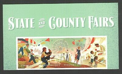 5401-5404 (5404a) State And County Fairs Strip Of 4 With Header Mint/nh