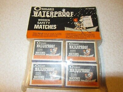 Vintage Coghlan's Waterproof Wooden Safety Matches Sealed