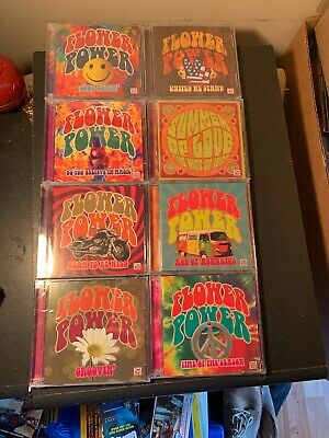 NEW SEALED Set of 8 Time Life Flower Power CDs Lot 2007/08 16 Discs 1960's Music