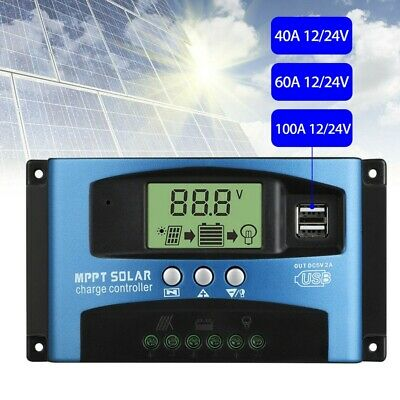 30-100A LCD Display MPPT Solar Charge Controller High-power Intelligent Dual USB