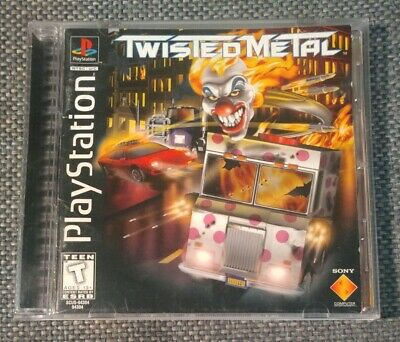 Twisted Metal PlayStation 1 PS1 PS2 PS3 Black label variant RARE!