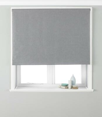 Riva Paoletti Eclipse Blackout Roller Blind - Silver Grey - Ready Made Control