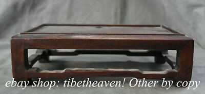 """12"""" Rare Old Chinese Huanghuali Wood Dynasty Palace Kang Table Desk"""