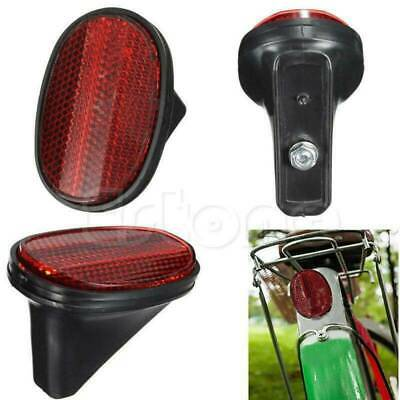 Bicycle Bike Cycle Safety Tail Rear Caution Mudguard Warnning Reflector Oval Red
