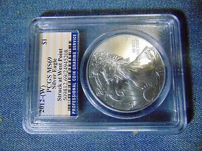 2012 $1 American Silver Eagle PCGS MS 69 West Point Strike Flag Label