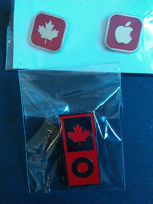 2010 Vancouver Olympic Games SONY Sponser Pin Set 3 Lot Canada Apple Maple Leaf