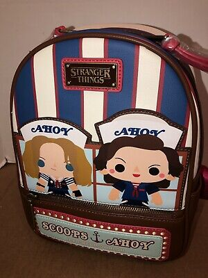 LOUNGEFLY NETFLIX STRANGER Things Forest Chibi Mini Backpack