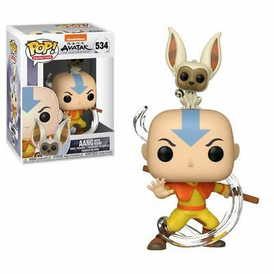 Aang With Momo Funko POP Animation Avatar Stylized Collectible Vinyl Figures NEW