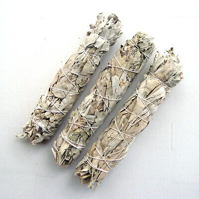 "Smudge Stick California White Sage - Large 8"" (20cm) x 3 Sticks"