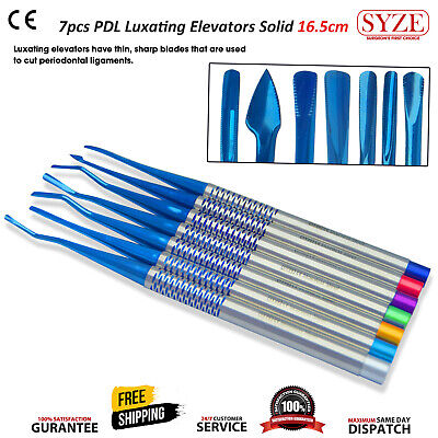 Dental Tooth Extraction PDL Luxating Root Elevators Oral Surgery 7 Pcs Kit SYZE