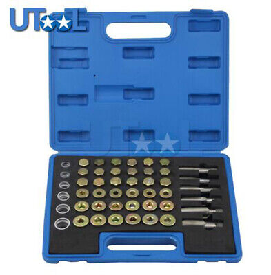 114pc Oil Pan Drain Sump Plug Key Set Thread Repair Tool Kit Set Drain plug Tool