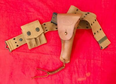 Wwi Us Army Aef M1916 Holster (G&K) 1918 (3 Piece Set) Minty!