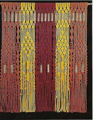 Vintage 1970's Multi-Color Macrame Curtain Pattern New macrame Craft Book HP450