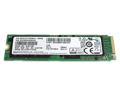Samsung 128GB SSD PM961 M.2 PCIe Gen3 x4 2280 NVMe V-NAND Solid state drive