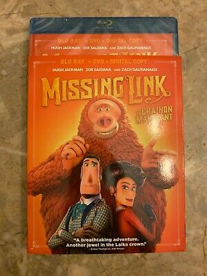 Missing Link 2019 Blu-Ray & DVD w Slipcover Canada Bilingual NO DC LOOK