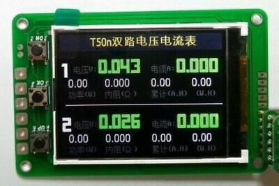 Battery Monitor Dual Voltmeter ammeter power capacity meter QC2.0 QC3.0 PD test