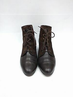 Sz 8 Vintage Ladies MEDICUS Dark Brown Classic Lace up leather ankle boots