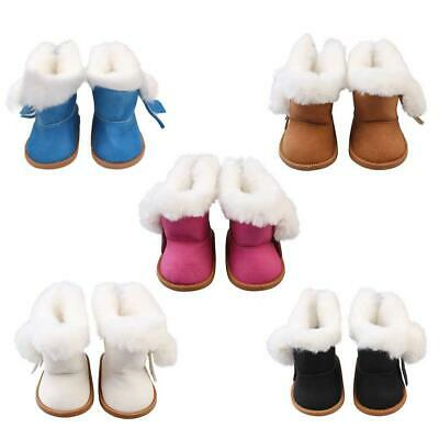 Fashion Plush Velvet Boots Shoes for 18-Inch Girl Doll Our Generation Toy