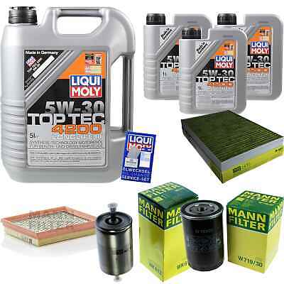 Inspection Kit Filter Liqui Moly Oil 8L 5W-30 for Audi A6 4B C5 RS6 Quattro